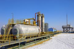 Oil and gas processing plant Stock Images