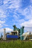 Oil and gas processing plant Royalty Free Stock Photos