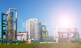 Oil and gas processing plant Stock Photos