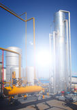 Oil and gas processing plant Royalty Free Stock Photography
