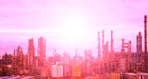 Oil and gas processing plant Stock Photo