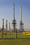 Oil and gas processing plant Royalty Free Stock Image