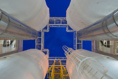 Oil and Gas processing platform,dehydration process to remove moisture and heavy hydrocarbon out of gas. Stock Images