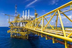 Oil and Gas processing platform at the gulf of Thailand. Royalty Free Stock Photos