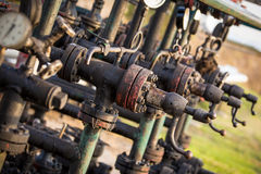 Oil and gas processing valve Royalty Free Stock Photography