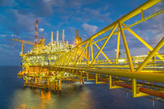 Oil and Gas production platform at morning,Oil and Gas business in Thailand. Stock Image