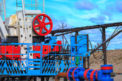 Oil and gas production Royalty Free Stock Photo