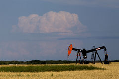 Oil and Gas Pump Jack Royalty Free Stock Images