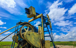 Oil and gas pump operating Stock Photos