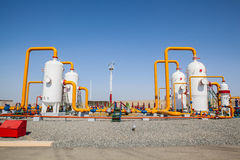 Oil and gas refinator compressor Stock Images
