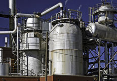 Oil gas refinery Royalty Free Stock Image