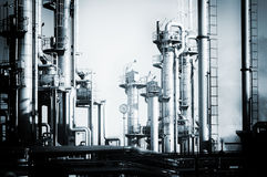 Oil and gas refinery, analogue processing effect Royalty Free Stock Image