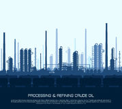 Oil and gas refinery Stock Image