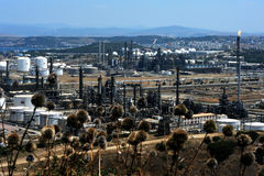 Oil and gas refinery complex Royalty Free Stock Images
