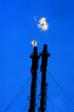 Oil and gas refinery complex Stock Images
