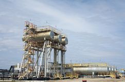 Oil and gas refinery Stock Photos