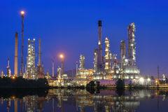 Oil and gas refinery Royalty Free Stock Images