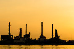 Oil and gas refinery petrochemical factory Stock Photo