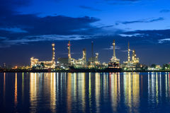 Oil and gas refinery petrochemical factory Royalty Free Stock Images