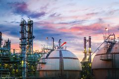 Oil and gas refinery royalty free stock photo
