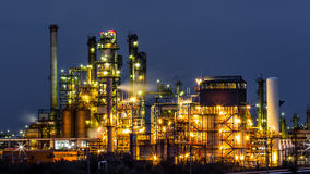 Oil and gas refinery plant Stock Photography