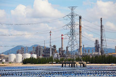Oil and Gas Refinery Plant, Industrial zone, Thailand Royalty Free Stock Photo