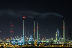 Oil and gas refinery plant at twilight. Stock Photography