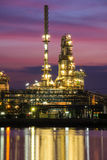 Oil and gas refinery at twilight stock photos