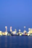 Oil and gas refinery at twilight time, Blurred Photo bokeh Royalty Free Stock Image