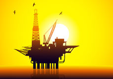 Oil & Gas Refinery-vector Stock Photography