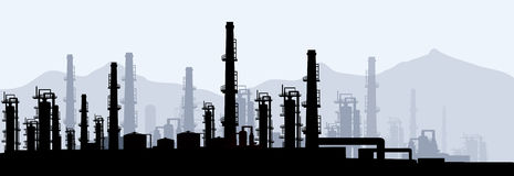 Oil & Gas Refinery-vector Royalty Free Stock Photography