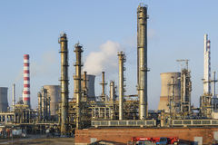 Oil and gas refining installations Stock Images