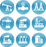 Oil and gas related icons Royalty Free Stock Image