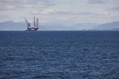 Oil and gas sea platform in Norway. Energy industry. Petroleum Royalty Free Stock Photography