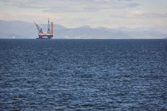 Oil and gas sea platform in Norway. Energy industry. Petroleum. Exploration Stock Photography