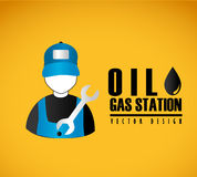 Oil gas station Stock Image