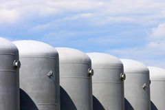 Oil and gas tanks Royalty Free Stock Images