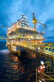 Oil and gas transfer platforms Royalty Free Stock Image