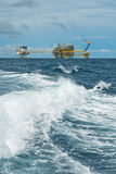 Oil and gas transfer platforms Stock Photo