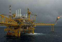 Oil and gas transfer platforms Royalty Free Stock Images