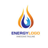 Oil, gas,water ,energy logo concept. Elegant and modern concept of oil and gas energy illustrator logo concept Stock Photography