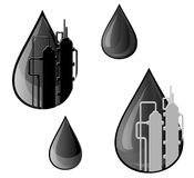 Oil and gasoline symbols Royalty Free Stock Photography