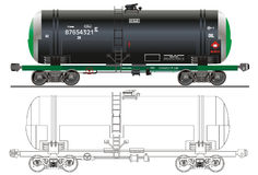 Oil / gasoline tanker car Royalty Free Stock Photo