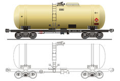 Oil / gasoline tanker car royalty free illustration