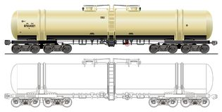 Oil / gasoline tanker car Stock Photography