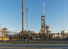 Oil and Gaz Refinery at sunset. The Montreal refinery at sunset Royalty Free Stock Photo