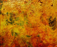 Oil glazes on painted canvas Royalty Free Stock Photos