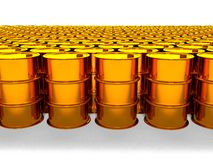 Of oil golden barrel background, 3d rendering Royalty Free Stock Image