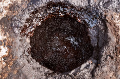 Oil in the ground (well) Royalty Free Stock Image