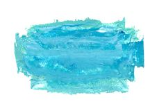 Oil Hand Painted Light Blue And Teal Background Stock Images